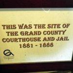 Sign next to Jail Doors