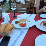 Meze plate and fried cheese starters