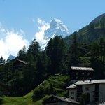 Rückwärtige Aussicht zum Matterhorn