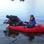 Kevin bike rafting on the loch maree adventure