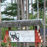 The Wicked Grill road sign
