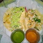 Grilled mahi taco and shrimp taco