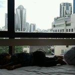 In hotel room