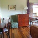 Jade suite entering bedroom with new vanity table