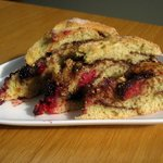 Hazelnut, Chocolate and Raspberry bread, a breakfast treat