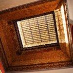 The Pasha Suite's bedroom antique skylight