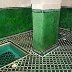 The massage room's plunge pools