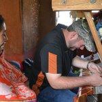 Marleni teaching us how to us a loom