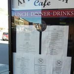 Menu by the Front Entry