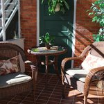private porch in 1st floor suite