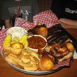 The All American BBQ Feast--lots to eat!