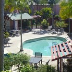 Overlooking one pool area