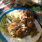Authentic Creole Meale at Water Front De Belle View in Soufriere