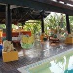 Relaxing cabana area
