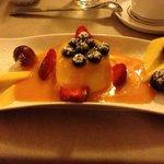 The superb, lemon panna cotta