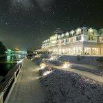 Grandhotel Lienz bei Nacht