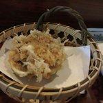 Ball of shrimps - deep-fried small shrimps (kakiage)