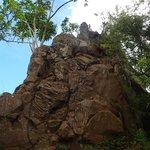 First Peak 直前の岩場
