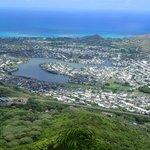 First Peak から Kailua、Lanikai 方向