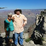 Marvellous Marv with Dee, my wife, in Grand Canyon