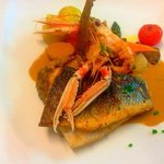 filet de bar aux langoustines !