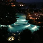 Pool at night, taken from our room