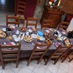 Table pour le petit-déjeuner de grande qualité