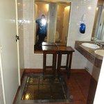 Banheiro onde está túnel