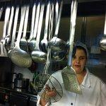 gleaming kitchen @La Taverna