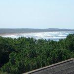 Vista dal balcone su una della spiagge vicine