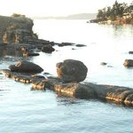 Rock formations in bay