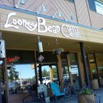 Looney Bean exterior--patio chairs and wifi available!