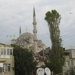 View of the Blue Mosque from the rooftop