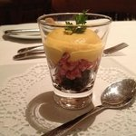 Delicious amuse bouche, compliments of the chef ...