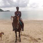 Riding Jack Sparrow near Pigeon Island