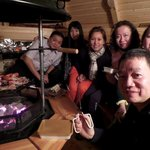 our barbecue dinner in barbecue hut