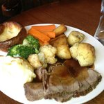 Sunday roast at the Red Lion