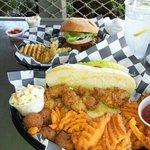 Carolina Cheese Burger and Oyster Hoagie