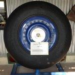Roue et pneu de train principal du Concorde