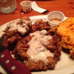 Country Fried Steak and Baked Sweet Potato