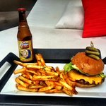 Time for a burger and a beer!