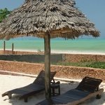 Sunbeds by the sea at Arabian Nights Hotel