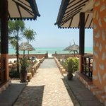 View from Arabian Nights Hotel lounge to the sea