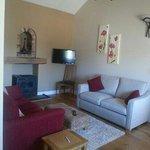 roomy living room and log fire