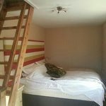 huge bed and apex room upstairs