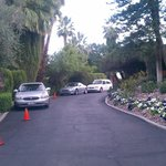 Looking East down the drive with entry to Melyn's on the right