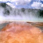 Steaming geyser basin pool