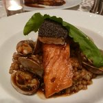 Salmon cooked to perfection