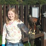 Jasmine and Jasmine the Harris Hawk!