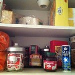 Cupboard full of breakfast items